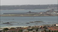 Jersey coast - Aerial View - helicopter filming,  aerial video,  cineflex,  establishing shot,  Jersey video