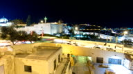 Jerusalem at night timelapse hyperlapse with the Al-Aqsa Mosque and the Mount of Olives video