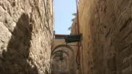 Jerusalem old city alley tilt video
