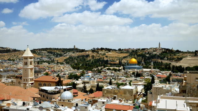 Jerusalem panoramic aerial view video