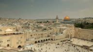 Jerusalem panoramic view of Wailing Wall video