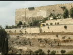 Jerusalem Walls and Valley with Olive Trees video