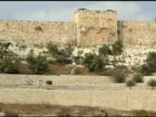 Jerusalem's Golden Gate and Valley of Olive Trees video
