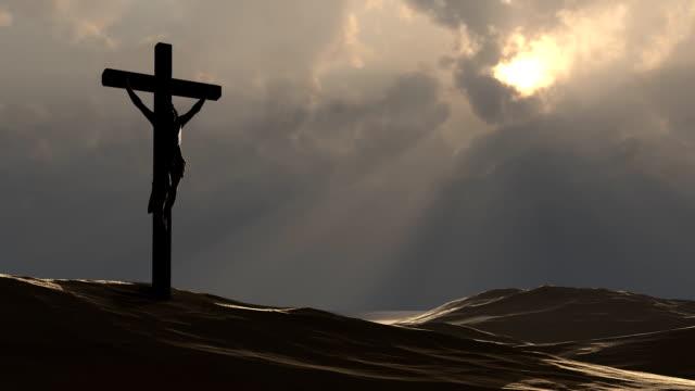Jesus Christ on the cross video