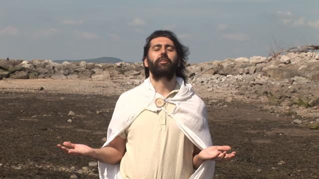 Jesus / Disciple praying - HD & PAL video