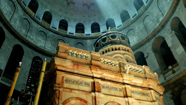 Jesus Empty Tomb in Jerusalem and Dome over it video