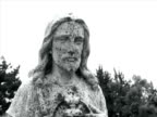 Jesus Statue in Cemetery video