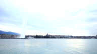 Jet d'eau in Lake Geneva video