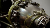Jet engine close-up video