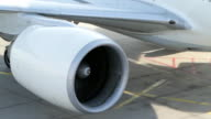 Jet Engine of modern Airliner video