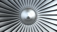 Jet engine, turbine blades video
