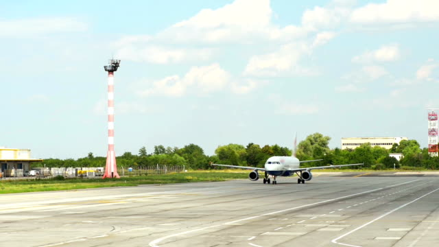 Jet Plane on Runway video