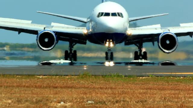 Jet plane taking off video
