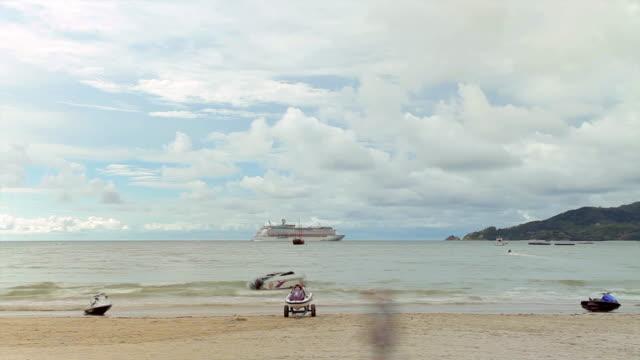 Jet ski on the beach video