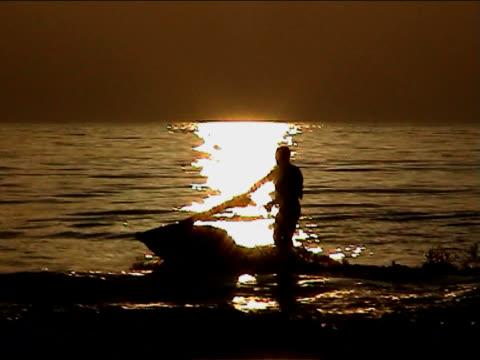 jet ski ride on sunset video