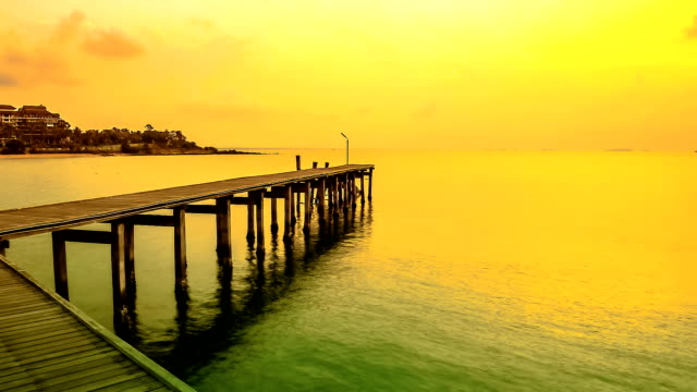 Jetty at sunrise video