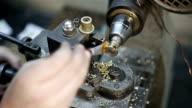 Jeweler turning machine video