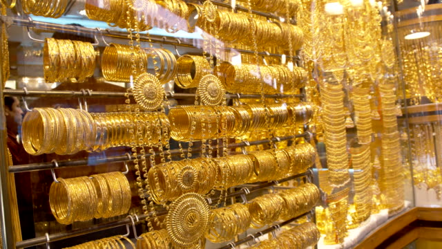 Jewelry at Dubai's gold souq video