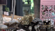 Jewels & precious gift in a designer clothes store video