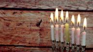 Jewish holiday hannukah symbols - menorah video