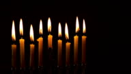 Jewish holiday hannukah with menorah traditional video