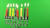 Jewish holiday Hanukkah background on greenscreen religion video