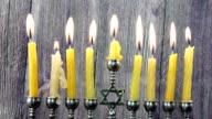 Jewish holiday Hanukkah menorah video