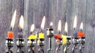 Jewish holiday Hanukkah with menorah video