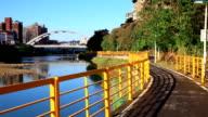 Jingmei parent-child life bike path video