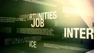 Job Search Related Words Background Loop video