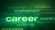 Jobs and Employment Words Loop video