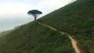 Jogging along the mountain video
