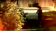 Jogging in the city. video