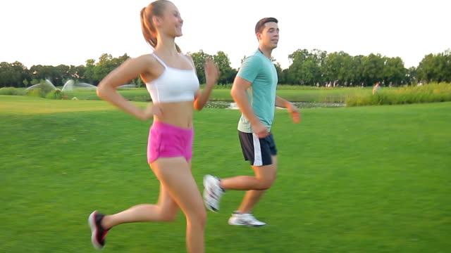 Jogging on the nature. video