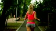 jogging woman video