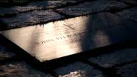 John F. Kennedy, Gravesite, tilt up to Eternal Flame, video