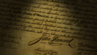 John Hancock, Declaration of Independence video