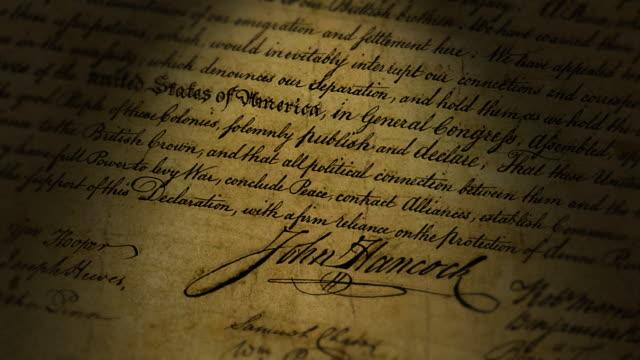 John Hancock, Declaration of Independence video