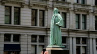 John Watts Statue in Manhattan New York City, a side view video