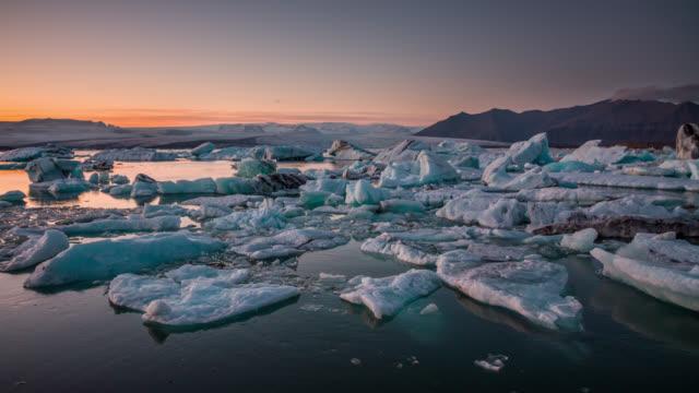 Jokulsarlon glacier lagoon in Iceland video