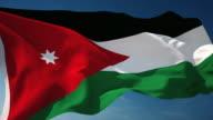 4K Jordan Flag - Loopable video