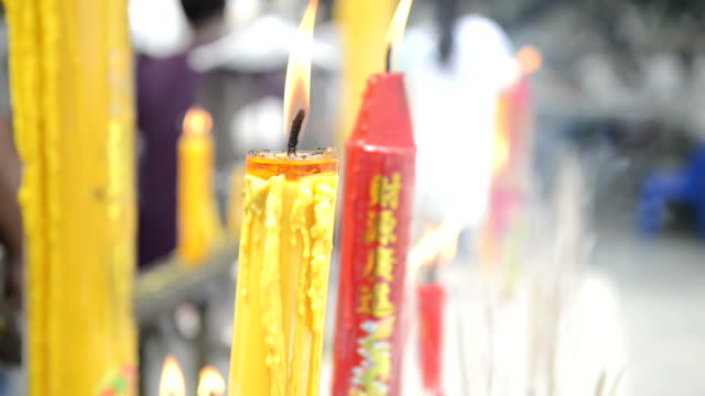 Joss stick and candle video