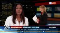 HD: Journalist Reporting Live In Studio video
