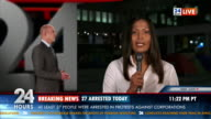 HD: Journalist Reporting Live In TV News video