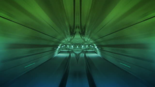 Journey through a tunnel. Loopable. Flipped. 4 colors. video