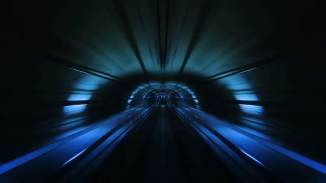 Journey through a tunnel. Loopable. Flipped. Blue. video