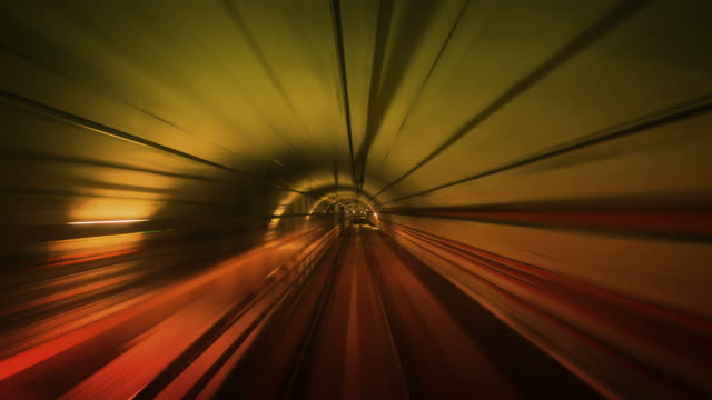 Journey through a tunnel. Loopable. Real. Amber. video