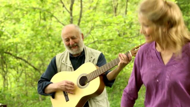 Joyful Seniors Dancing in Nature video