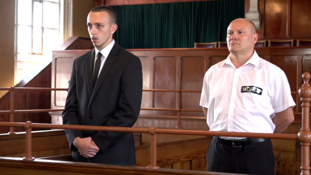 Judge adresses Defendant in Court, Jury in Courtroom video