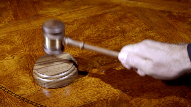 Judge and gavel video